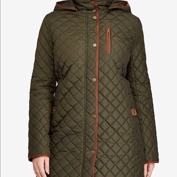 Ralph Lauren Plus Size Quilted Jacket Black